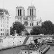 Notre Dame, west facade — Stock Photo