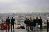 Paris skyline from Montmartre Hill — Stock Photo
