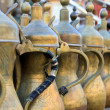 Stock Photo: Arabic tepots lined up