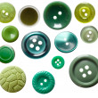 Set of isolated green buttons — Stock Photo