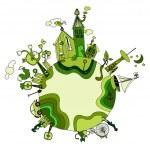 Around the green bio world — Stock Vector #9679146