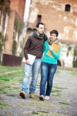 Young Couple at College — Stock Photo