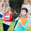 Multicultural College Students at Park — Stock Photo #9746694
