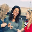 Three Women Chatting Outdoor — Stock Photo #9747392