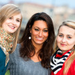 Three Women Outdoor — Stock Photo