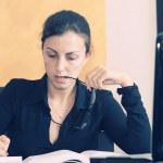 Young female university student studying — Stock Photo