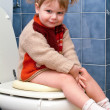 Child on the toilet — Stock Photo #10035960