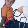 Child with stethoscope — Stock Photo