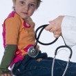 Royalty-Free Stock Photo: Child with stethoscope