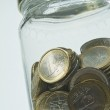Jar and coins — Stock Photo #10112572