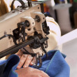 Stock Photo: Industrial Sewing Machine