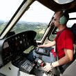 Helicopter pilot - Stock Photo
