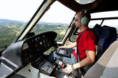 Helicopter pilot — Stock Photo