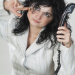 Business woman on the phone — Stock fotografie