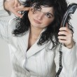 Business woman on the phone — Stock Photo #10498933