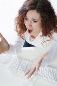 Businesswoman shouting — Stock Photo