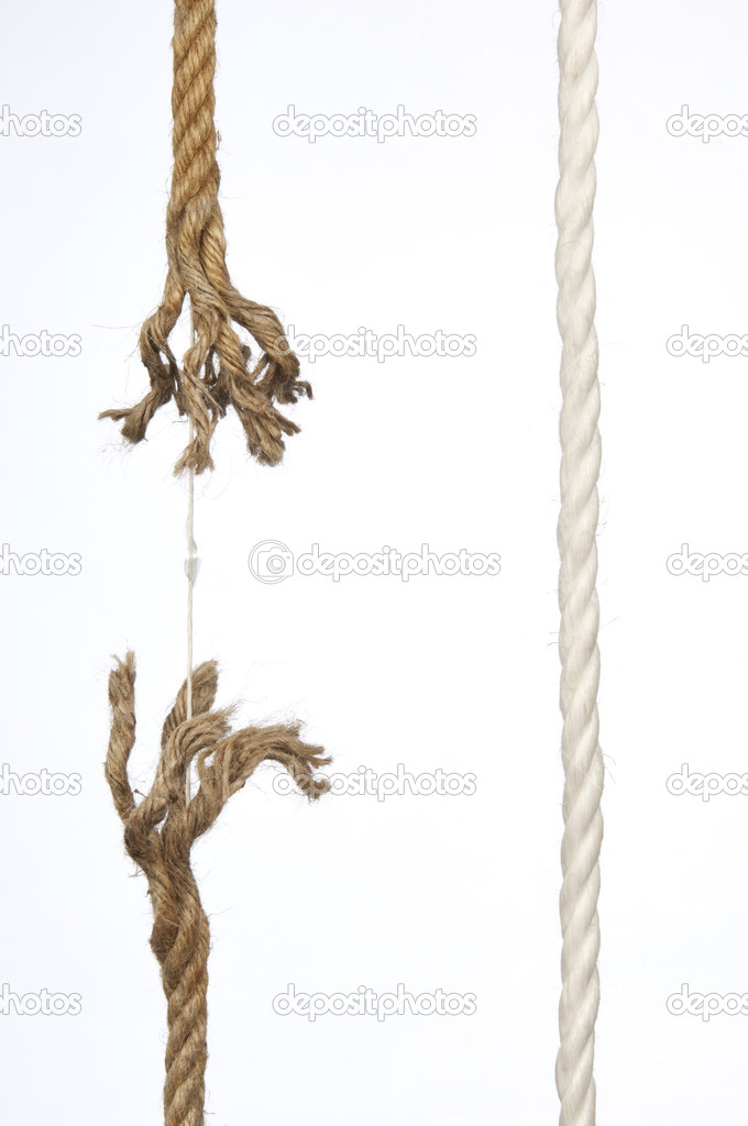Frayed rope on a white background — Stock Photo #9727978