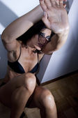 Battered woman — Stock Photo