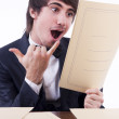 Businessman stressed in his office — Foto Stock