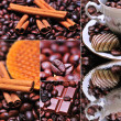 Coffee themed collage, coffee time — Stock Photo