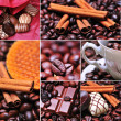 Stock Photo: Coffee themed collage, coffee time