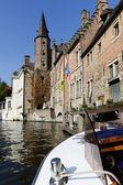 Brugge water canal, Belgium — Stock Photo