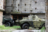 Armoured war vehicle — Stock Photo
