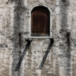 Stock Photo: Window in old bastion wall