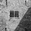 Stock Photo: Old bastion wall black and white