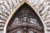 Detalle de la arquitectura en la puerta de casa vieja — Foto de Stock