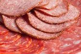 Chorizo, salchichon, salami korv 2 — Stockfoto
