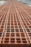 The road of bricks — Stock Photo