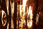 Flame in goblet — Stock Photo