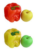 Bulgarian pepper and apple — Stock Photo