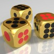 Stock Photo: Golden dice