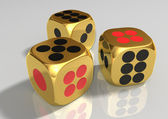 Golden dice — Stock Photo