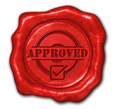 Wax seal approved — Stock Photo