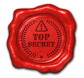 Wax seal top secret — Stock Photo