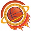 Basketball team logo — Stock Vector #9928748