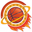 Stock Vector: Basketball team logo