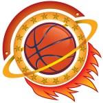 Basketball team logo — Stock Vector