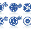 Stock Vector: Gears set B