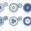 Stock Vector: Gears set A