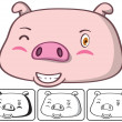 Stock Vector: Pig head