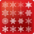 Stock Vector: Snowflakes set B
