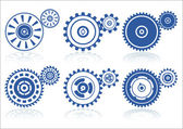 Gears set A — Stock Vector
