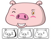 Pig head — Stock Vector