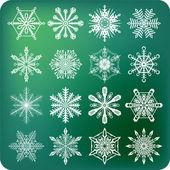 Fiocchi di neve — Vettoriale Stock