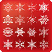Snowflakes set B — Stock Vector