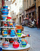 Pottery for Sale in Uzes — Stock Photo